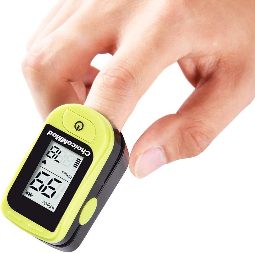 Amazon.com: ChoiceMMed Oximetro de pulso de dedo verde claro ...