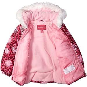 London Fog Toddler Girls' Snowsuit With Snowbib and Puffer Jacket, Rocket Pink, 3T