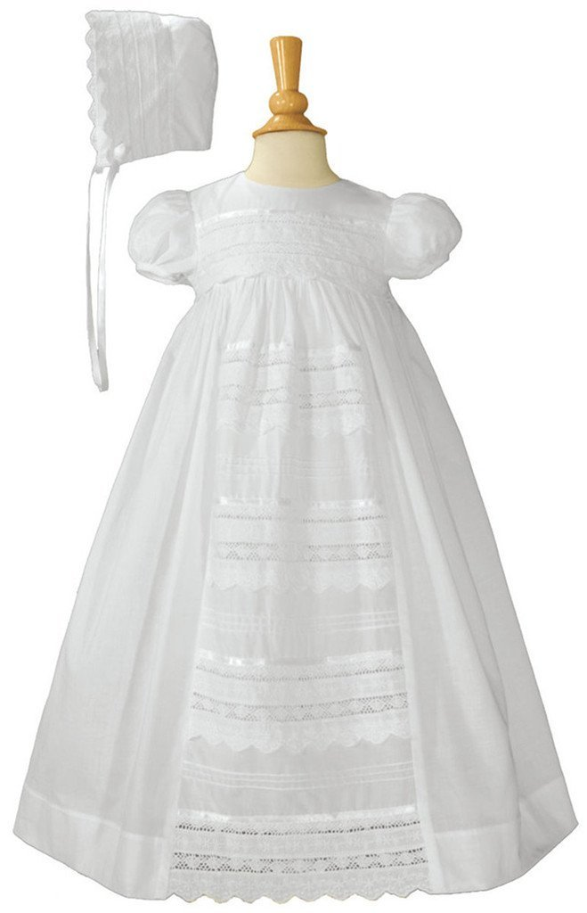 Baby Girls Eyelet Lace Christening Gown 6M