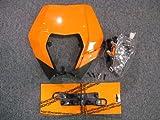 ebay ktm - KTM 2008-2012 200 250 300 450 530 XC EXC XCW HEADLIGHT ASSEMBLY ORANGE MASK KIT
