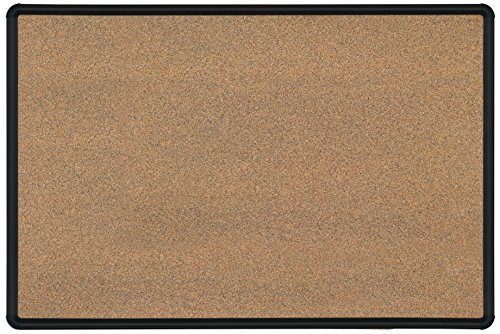 Best-Rite Splash-Cork Presidential Trim, Black, 4 x 6 Feet (300PG-T1) by Best-Rite