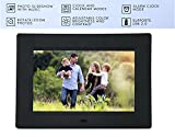 XECH 7' Digital Photo Frame with Functional Remote Plays Photos slideshow, Video, Audio (7'inch, Black)