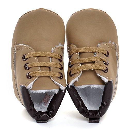 Estamico infantil niños 'high-top botas sintética zapatillas caqui Talla:3-6 meses