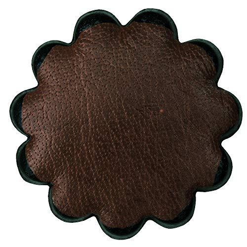 HILASON Set of 06 Plain Scalloped Leather Rosette Concho Saddle TACK 1-1/2