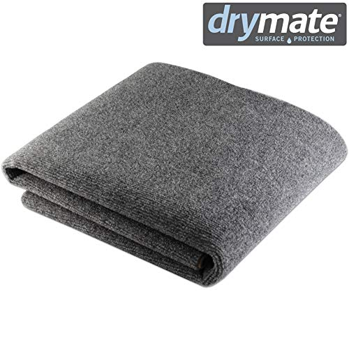 Photo Drymate Premium Whelping Box Liner (48 Inches x 59 Inches), Machine Washable Whelping Mat - Absorbent/Waterproof - Whelping Pad - Easily Cut to Fit Any Whelping Box, (Made in The USA)