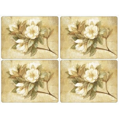 Pimpernel Sugar Magnolia Placemats - Set of 4 (Large)