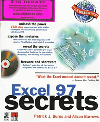 Excel 97 Secrets: Partick J. Burns, Alison Barrows: 9780764530449 ...