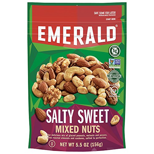 Emerald Mix (Emerald The Original Salty Sweet Mixed Nuts, Stand Up Resealable Bag, 5.5 Ounce)