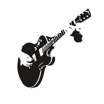 Ruikey Guitarra Pegatina de Pared DIY Vinilo extraíble a Prueba de Agua Art Decal Mural para Sala de Estar decoración del Dormitorio: Amazon.es: Hogar