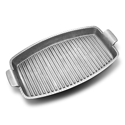 Wilton Armetale Gourmet Grillware Grilling Pan with Handles, 18.25-Inch
