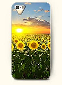 OOFIT phone case design with The bright sun is shining the ocean of sunflowers for Apple iPhone 4 4s