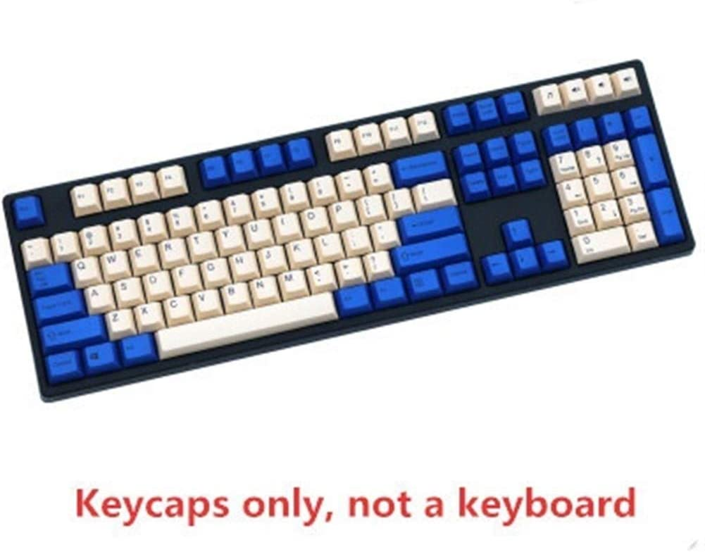 Keyboard keycaps 1 Set of Navy Matching PBT Keycaps Color : 108 Keys MX Switch Mechanical Keyboard Dye Contour Keycaps