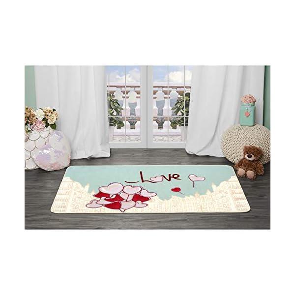 Evolur Home Nursery Bedroom/Livingroom/BabyPlaymat/ChildrensRug/PlayRug/KidsRug/City Love, Floormat Rug 55'x31.5'