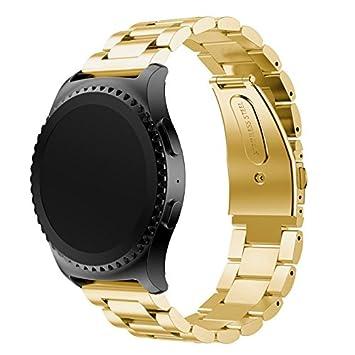 Recambio de correa de smartwatch de cuero de Loveblue, para Samsung SM-R600 Gear Sport/Garmin Vivoactive 3/Withings Steel HR de 40 mm, y para reloj ...