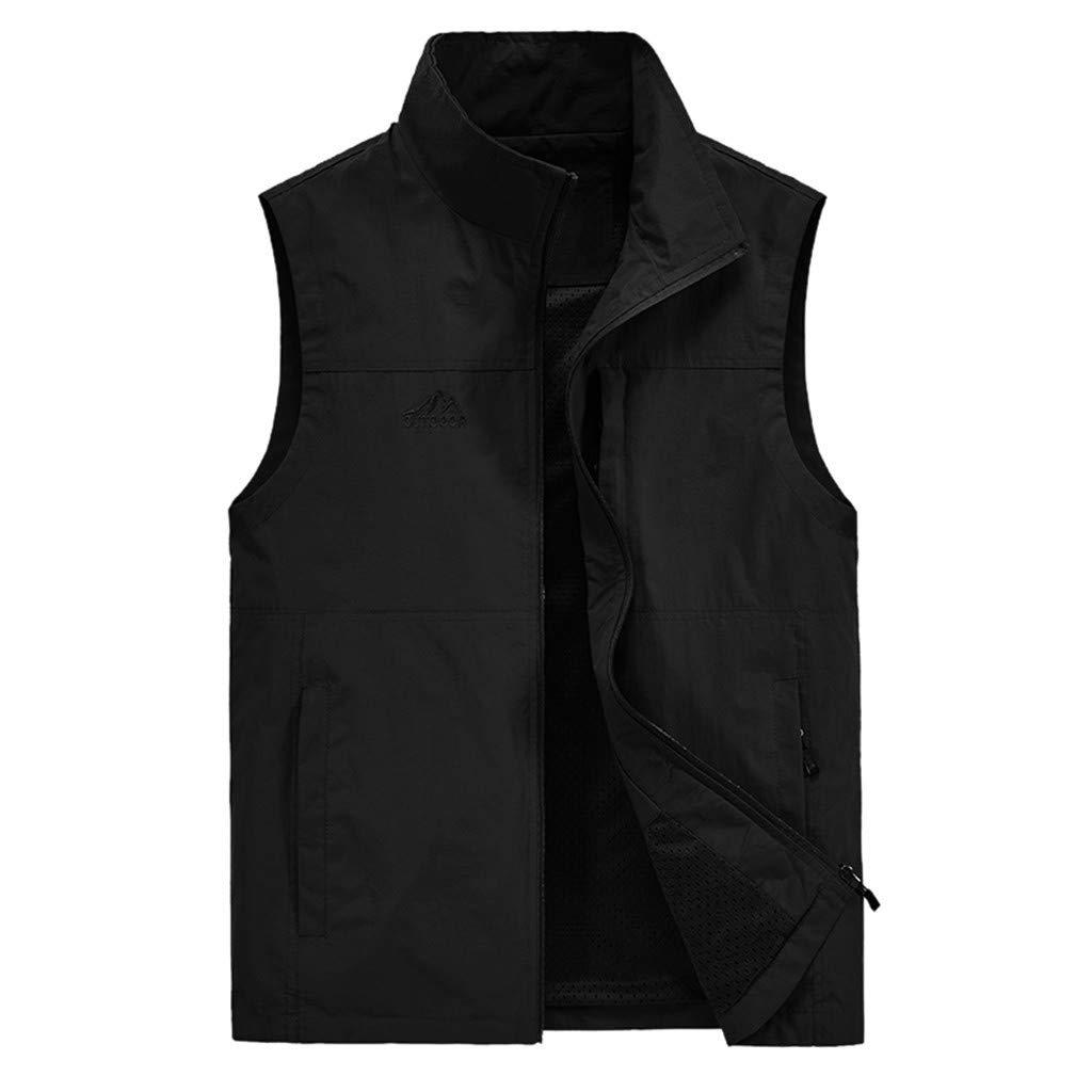 F_Gotal Mens blazer Men's Lightweight Water-Resistant Packable Puffer Vest Black by F_Gotal Mens blazer