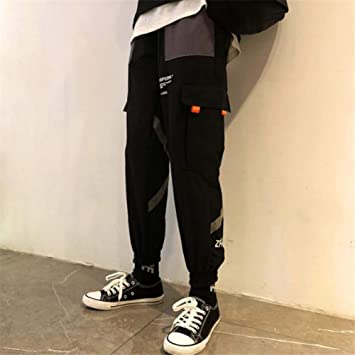 Hnrlsl Pantalones Streetwear Pantalones De Chandal De Retazos De Bloques De Color Impresos Pantalones Rompevientos De Hip Hop Para Hombre Vintage Pantalones Streetwear Pantalones Harem Pantalones Amazon Es Deportes Y Aire Libre