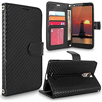 Droid Turbo 2 Case, Cellularvilla [Stand Feature] [Card Slots] Premium Pu Leather Flip Wallet Case Cover For Motorola Droid Turbo 2 Verizon / Kinzie Bounce ...