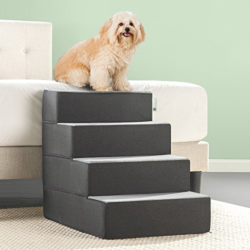 Zinus Easy Pet Stairs/Pet Ramp/Pet Ladder, X-large, - Foam 4 Step
