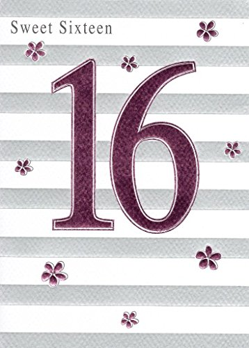 Happy 16th Birthday Foiled Greeting Card Second Nature Cards