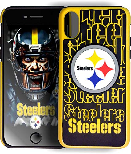 Forever Collectibles Dual Hybrid Impact Licensed Letters Compatible/Replacement Case for iPhoneX iPhone - NFL Pittsburgh Steelers ()