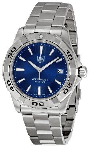TAG Heuer Men's WAP1112.BA0831 Aquaracer Blue Dial Watch