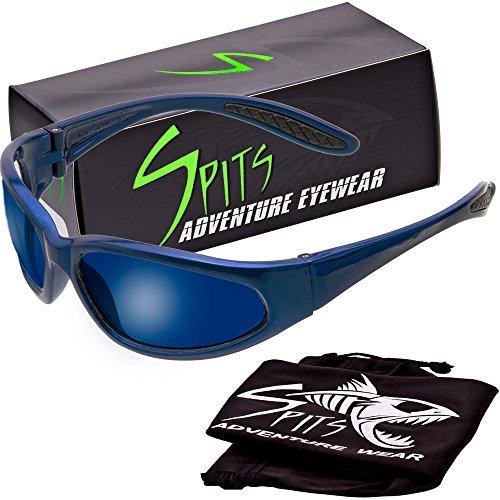 - Hercules Safety Glasses - Blue Frame - Grey Lenses -G-Tech Blue Mirror Coated