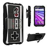 Cheap DuroCase ® Motorola Moto G 3rd Gen 2015 Released Hybrid Dual Layer Combat Armor Style Kickstand Case w/ Belt Clip Holster Combo – (Game Controller)