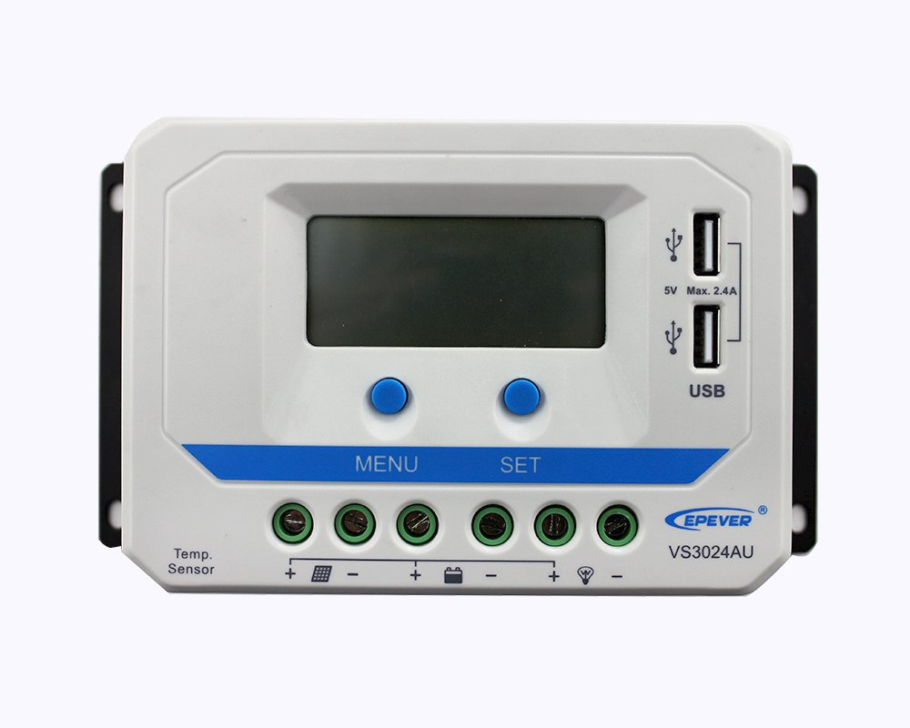 PWM Charge Controller Epever® VS3024AU 30A Automatic Sensor 12V/24V SolarV®