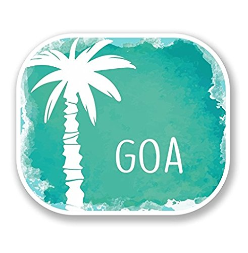 Goa India Luggage Travel Vinyl SELF ADHESIVE STICKER Decal iPad Sign Fun - Sticker Graphic - Auto, Wall, Laptop, Cell, Truck Sticker for Windows, Cars, Trucks