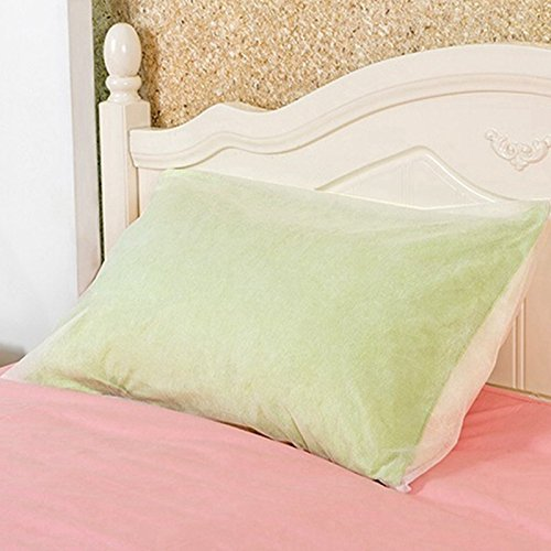 - Xiaolanwelc@ 10PCS Pillow Dust Cover Non-woven Fabrics Disposable Cushion Pillow Cases Covers Travel Hotel Neck Cover White 70x50cm