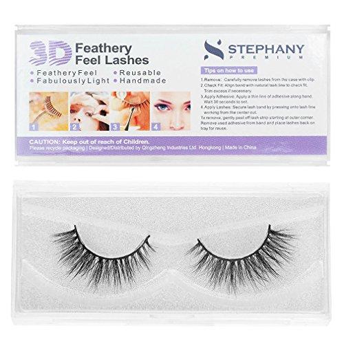 Stephany Premium 3D Feathery Feel Fake Eyelashes (3D-01)
