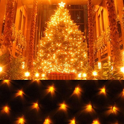 Oksale 2x3M 320LED String Fairy Lights Net Mesh Curtain Wedding Party Outdoor Indoor Decoration Light (A) (Lights Operated Net Battery)