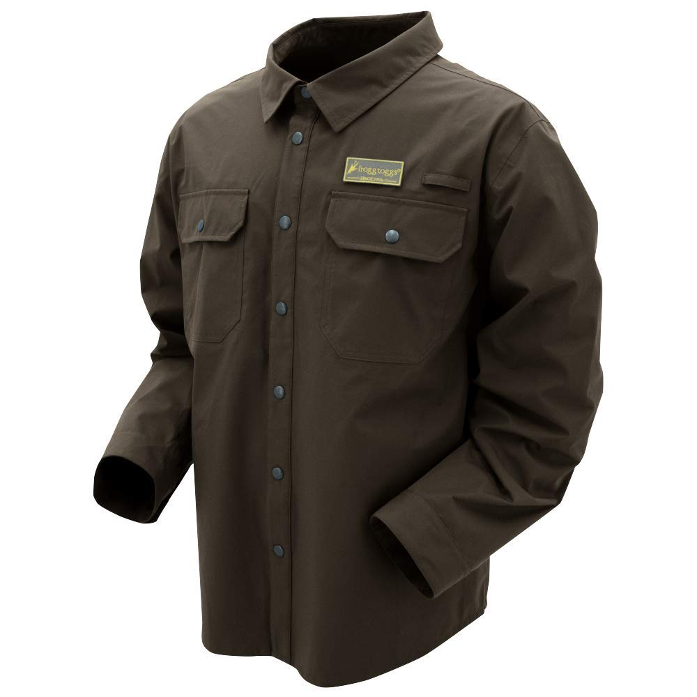 Frogg Toggs Pilot Jac Shirt, Brown, Size Small Pilot Jac Shirt, Brown, Small