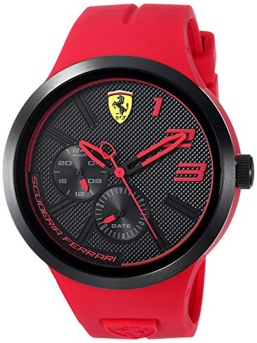 Scuderia Ferrari Men's 'FXX' Quartz Resin and Silicone Casual Watch, Color:Red (Model: 0830396)