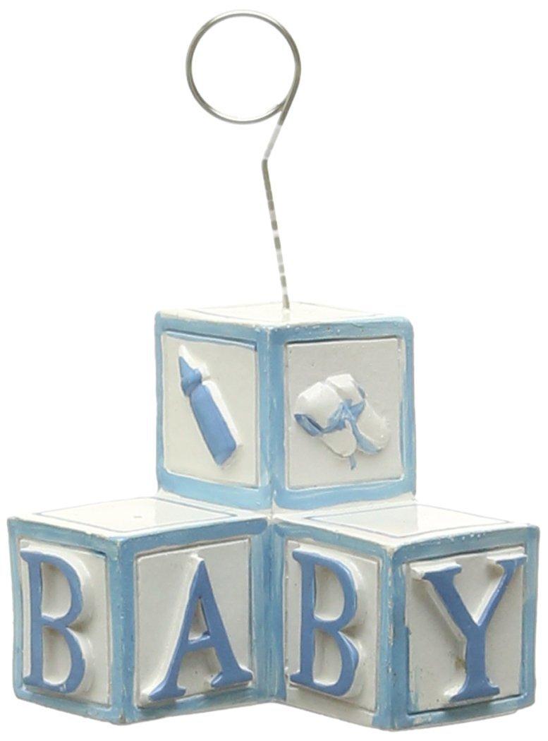 Beistle 50902-LB 1-Pack Baby Blocks Photo/Balloon Holder