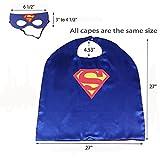 Mizzuco 8pcs Comics Cartoon Dress Up Costumes Satin Capes with Felt Masks