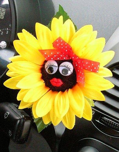 girasole con fiocco rosso VW Beetle motivo fiore