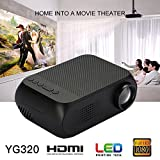 Hanbaili HD Wireless LCD Projector, (US Plug)Home Theater Video Projector Support 1080p HDMI LED Home Cinema Projector for Tablet iPad Smartphone-Outdoor Indoor Movie, Video Games, Entertainment