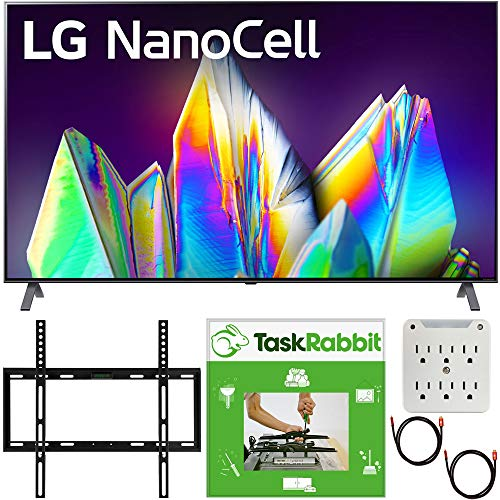 LG 75NANO99UNA 75 inch Nano 9 Series 8K Smart UHD NanoCell TV with AI ThinQ 2020 Bundle with TaskRabbit Installation Services + Deco Gear Wall Mount + HDMI Cables + Surge Adapter