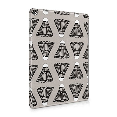(Indoor Outdoor Badminton Shuttlecock Birdie Pattern Plastic Tablet Snap On Back Case Cover Shell For iPad Air 2)