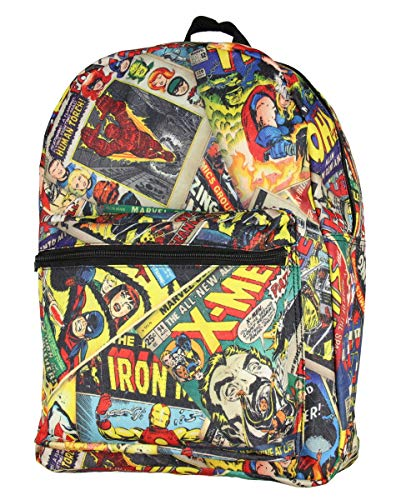 Marvel Comics All Over Comic Book Vintage Print School Backpack ()