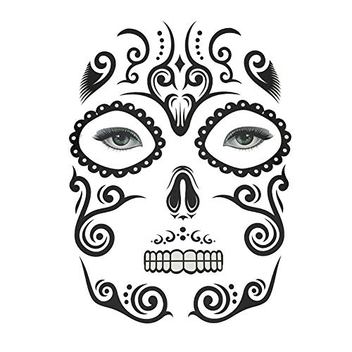 wintefei Halloween Temporary Tattoo Face Sticker Cosplay Masquerade Body Art Makeup Decal Scary props 6#