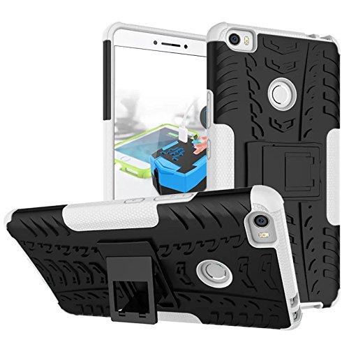 Xiaomi Mi Max Funda, adorehouse Hybrid TPU y PC Bumper Back Cover [diseño 2 en 1] Anti-Gota Anti-Choques Rígido Carcasas para Xiaomi Mi Max (Rosa Caliente) Blanco