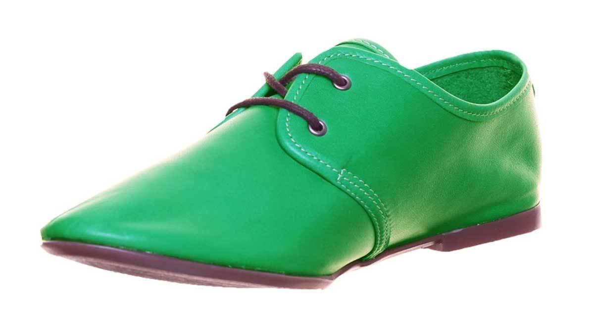 Justin Reece Carmen - Zapatos de Cordones de Piel para Mujer 37 1/3 EU|Verde