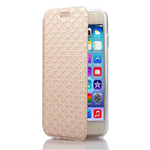 iPhone 6 Hülle,Apple iPhone 6 Hülle (4.7 Zoll) Lifetrut®[goldene] Flip Case mit lebenslanger Garantie + Kartenfächern & Standfunktion