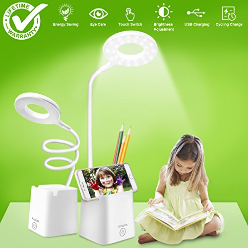 led-Desk-Lamp-Table-Lamps-with-Shelves-Holder-USB-Charging-Port