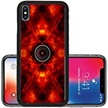 Liili Premium Apple iPhone X Aluminum Backplate Bumper Snap Case Audio speaker on a groovy red background Photo 19495270