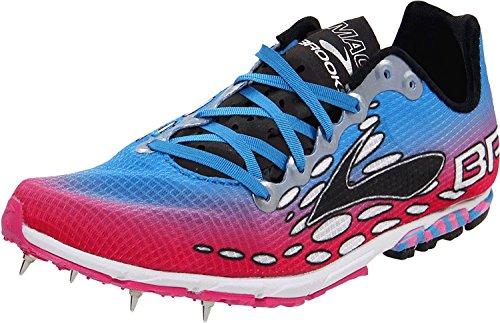 Brooks Women's Mach 14 Spike Running Shoe,Neon Magenta/Neon Blue/Black,10 B US Brooks Running Spikes
