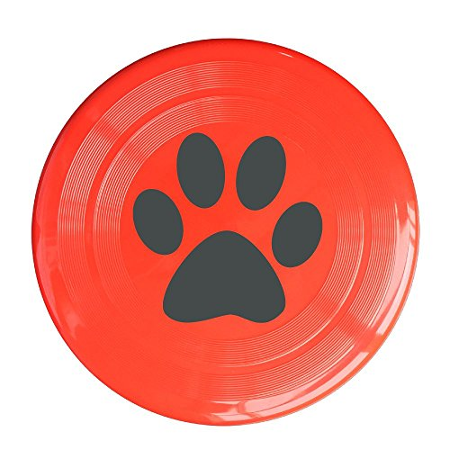 LINNA Unisex Dog Tracks Outdoor Game, Sport, Flying Discs,Game Room, Light Up Flying, Sport Disc ,Flyer Frisbee,Ultra Star Red One Size
