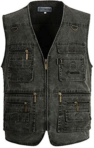 [Carterd Air Permeability Mens Summer Cotton Leisure Outdoor Plus Size Fish Vest GreyUS L/Label 2XL Cool] (Morph Suite)